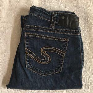 "Silver Jeans ""Suki"" Dark Wash Skinny Jeans"